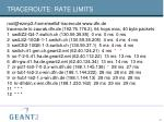 traceroute rate limits