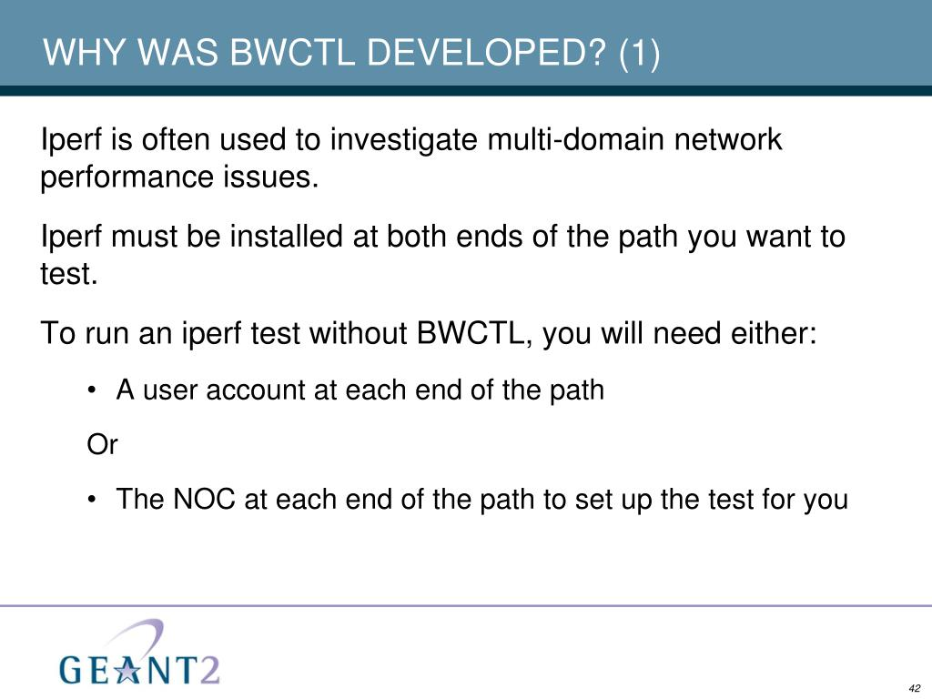 WHY WAS BWCTL DEVELOPED? (1)