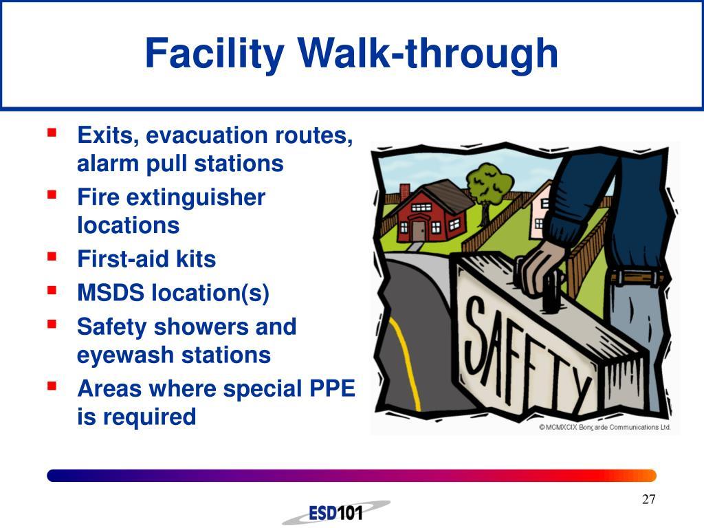 Facility Walk-through