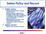 safety policy and record