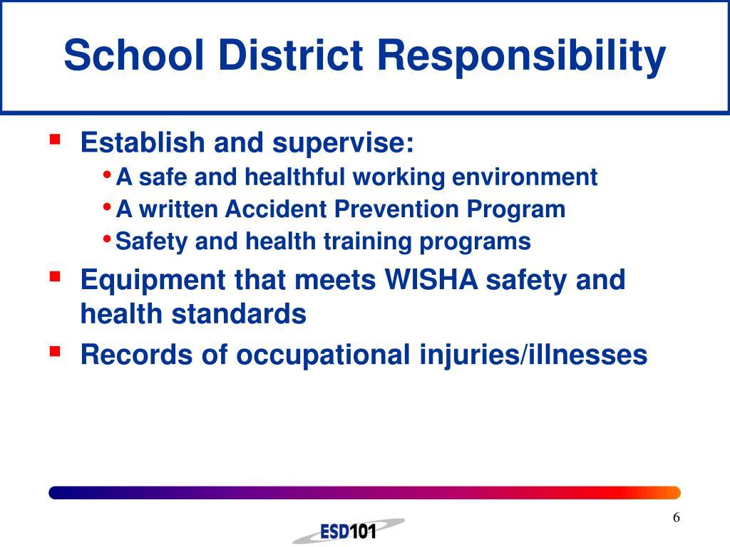 School District Responsibility