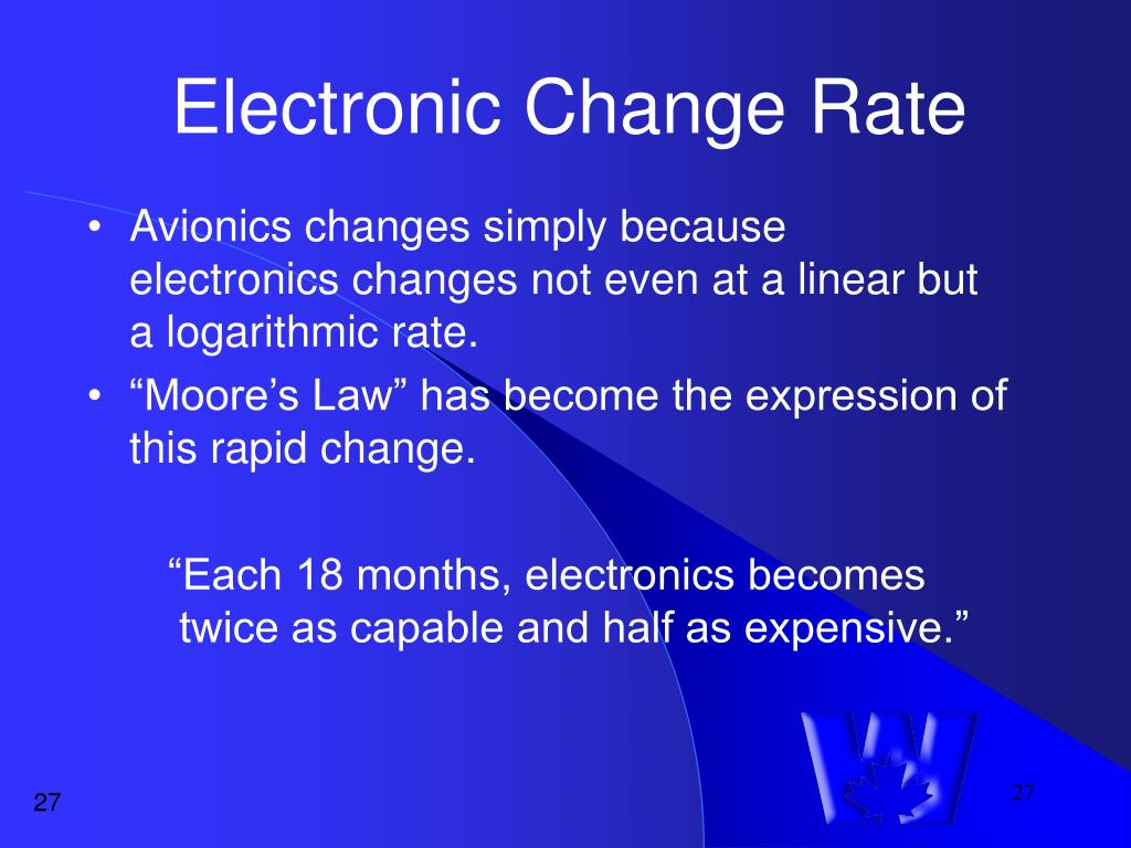 Electronic Change Rate