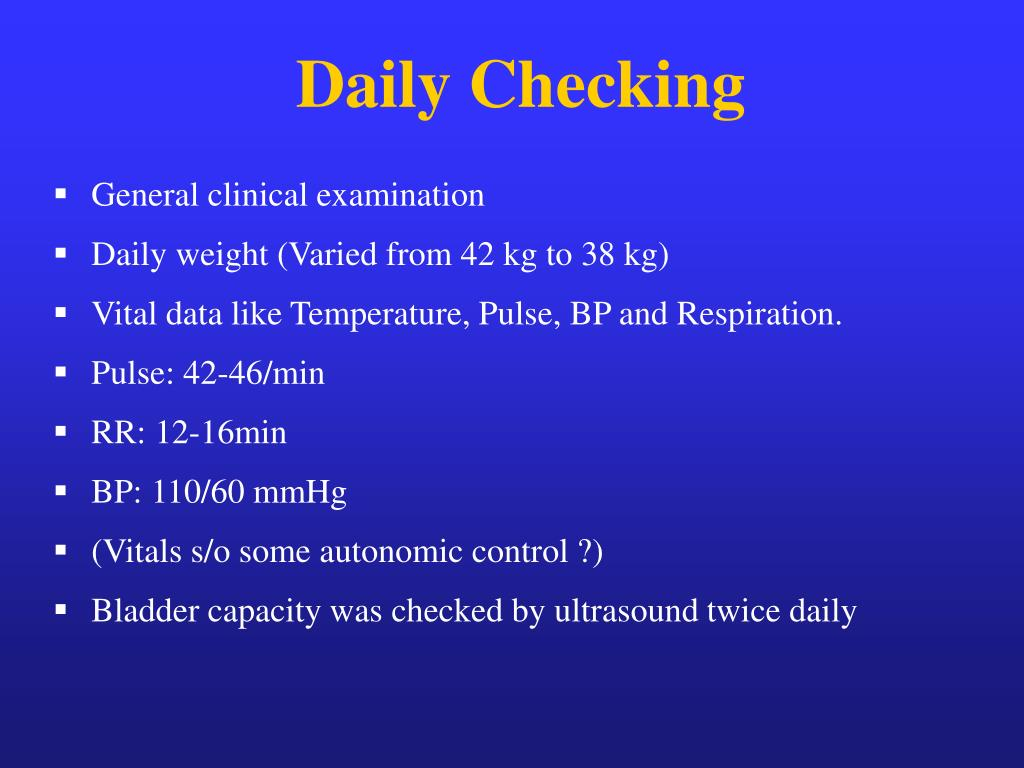 Daily Checking
