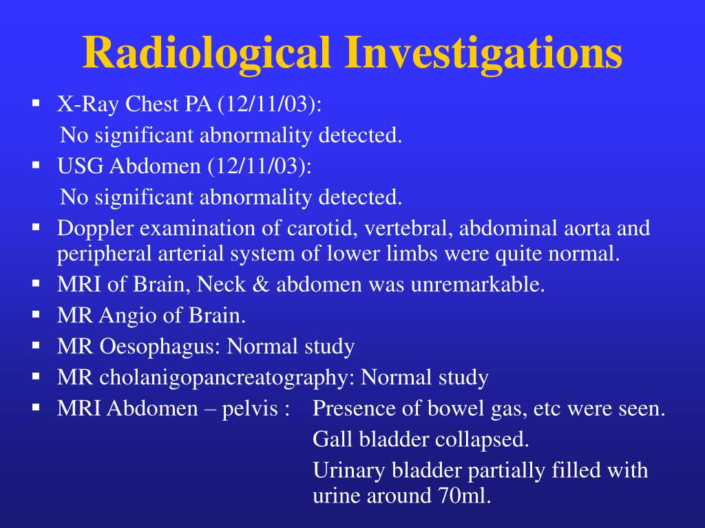 Radiological Investigations