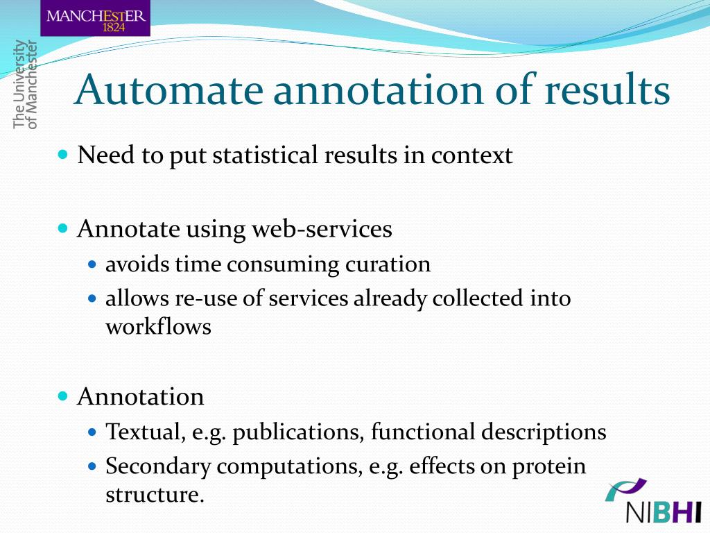 Automate annotation of results