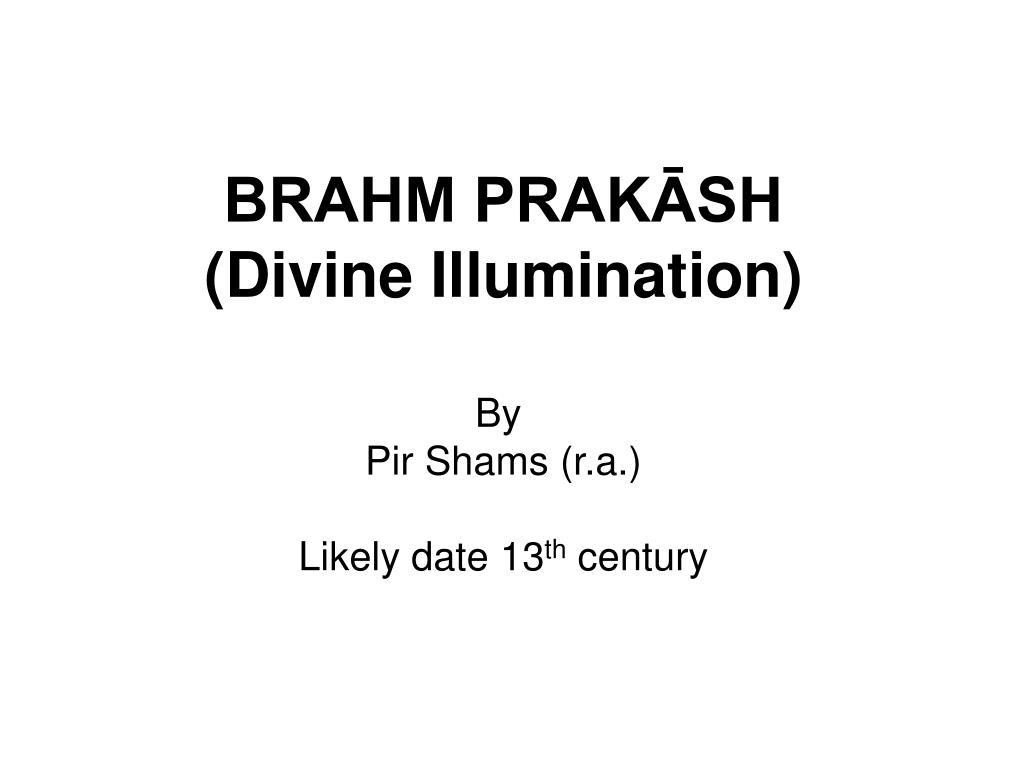 BRAHM PRAKĀSH