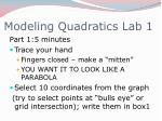 modeling quadratics lab 1