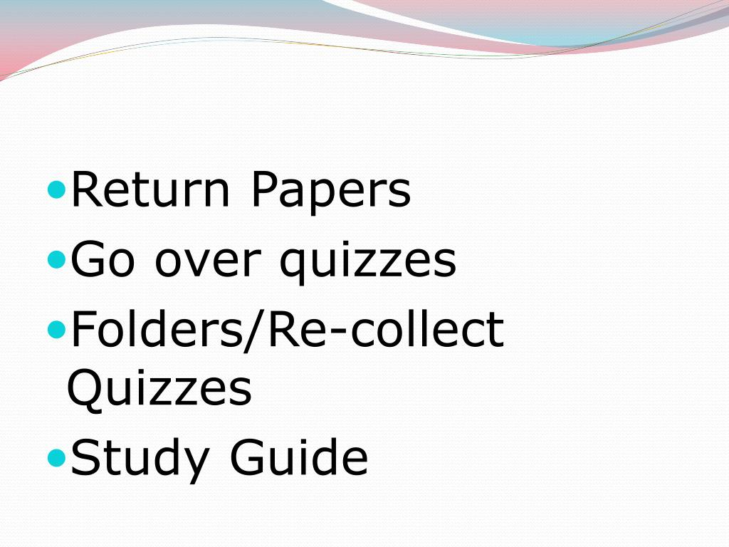 Return Papers