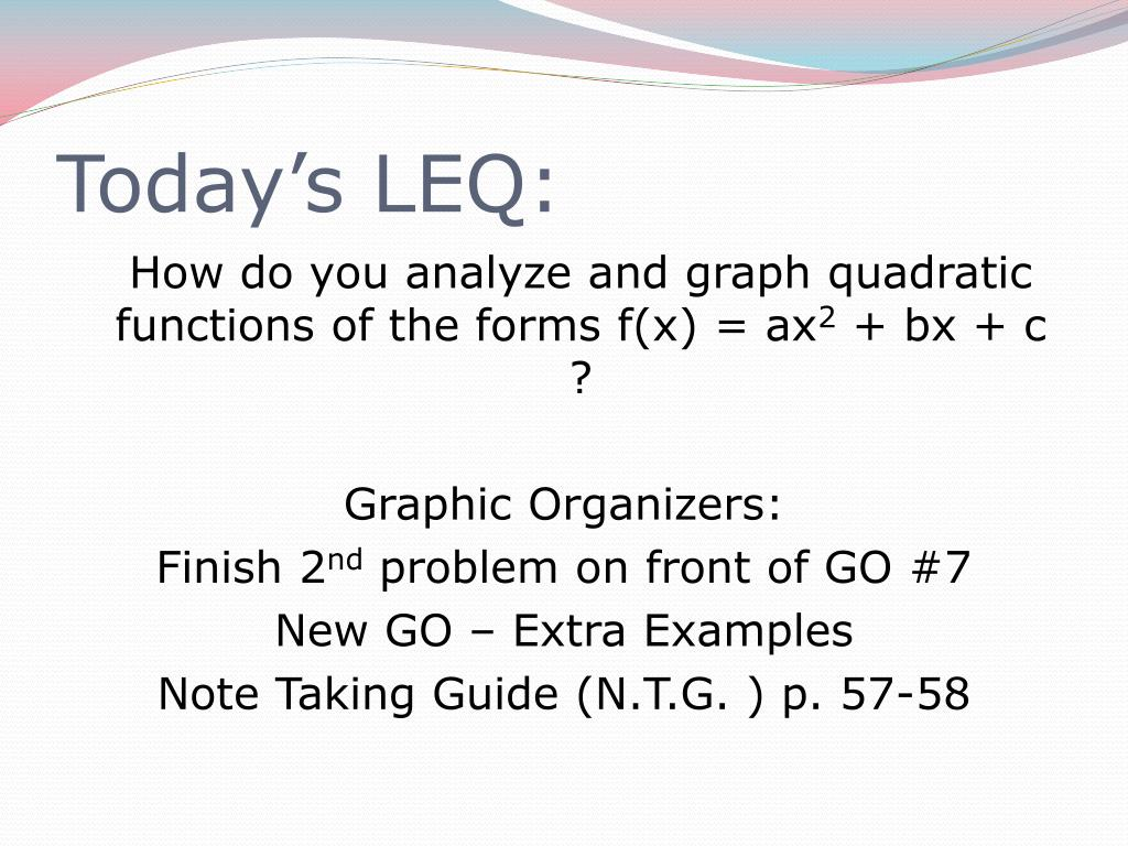 Today's LEQ: