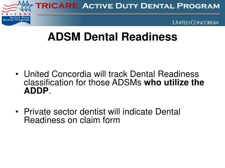 ADSM Dental Readiness