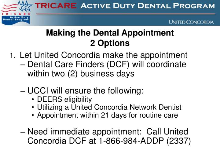 Making the Dental Appointment