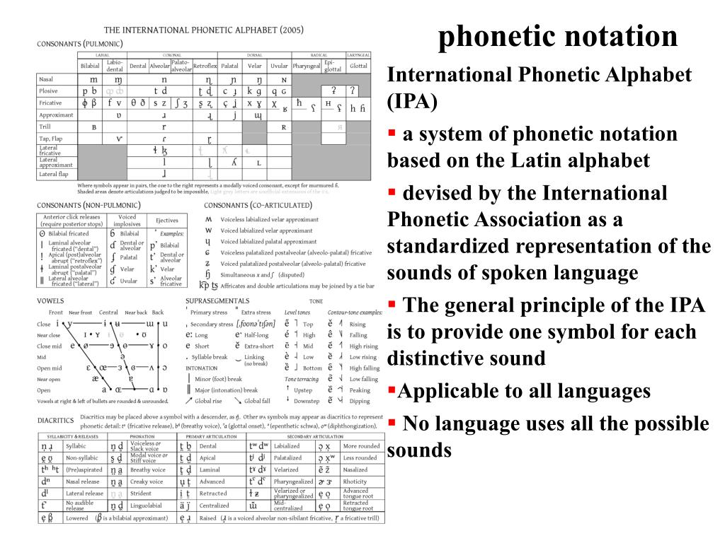 phonetic notation