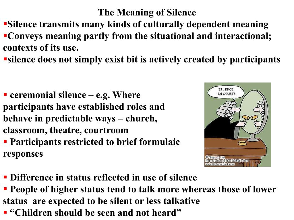 The Meaning of Silence