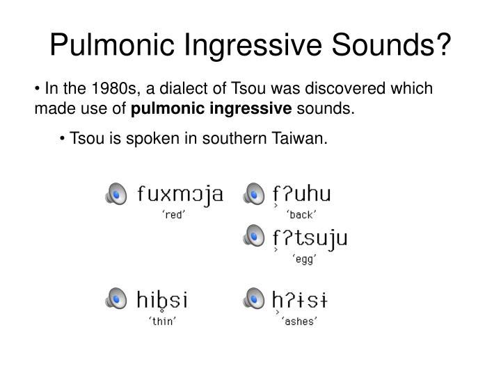 Pulmonic Ingressive Sounds?