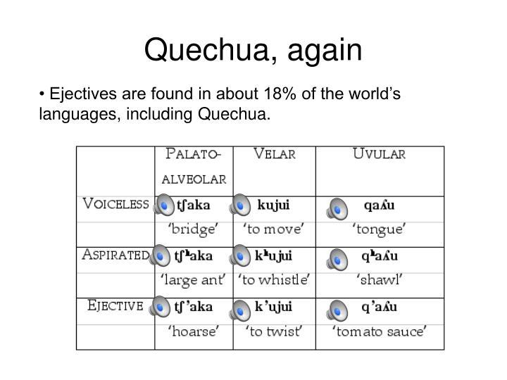 Quechua, again