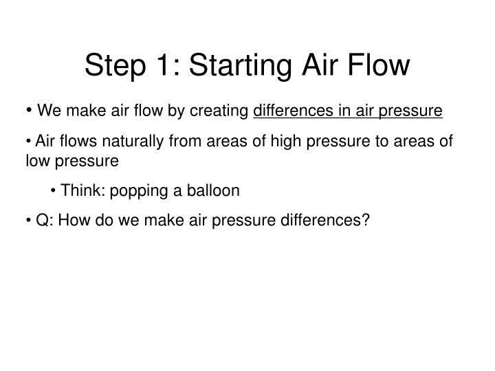 Step 1: Starting Air Flow