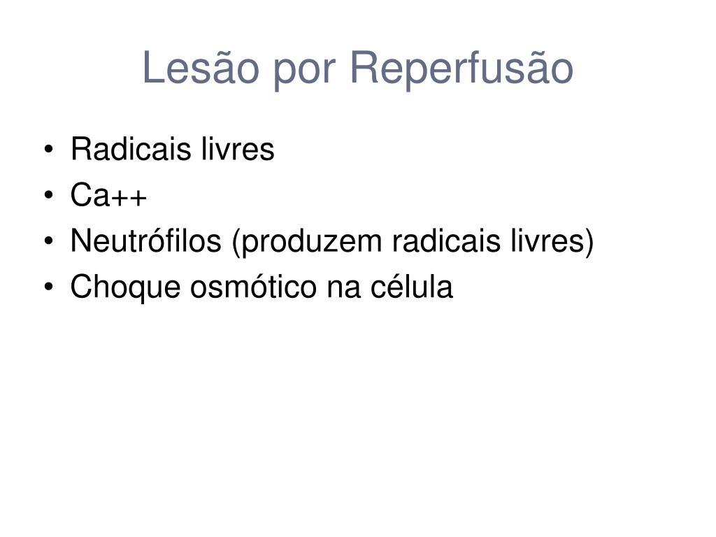 Lesão por Reperfusão