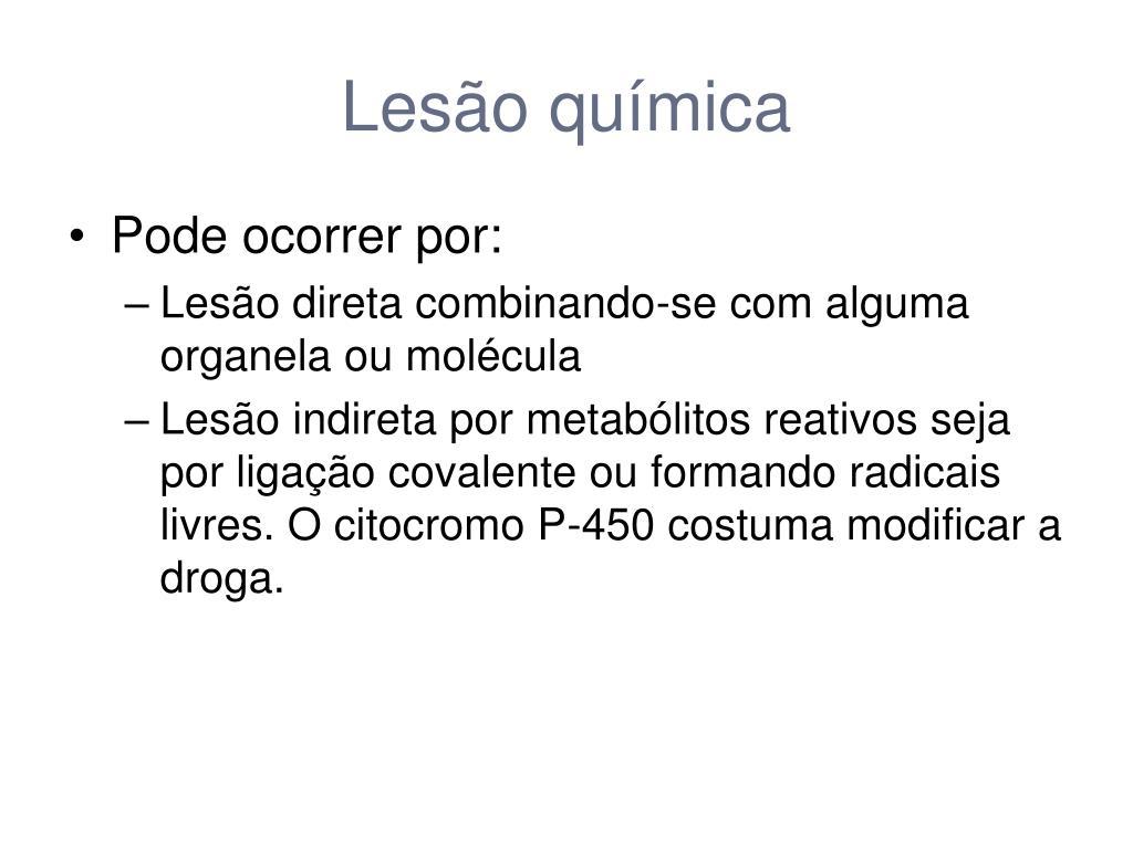 Lesão química
