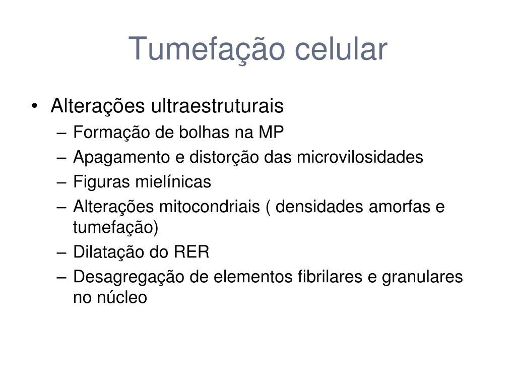 Tumefação celular