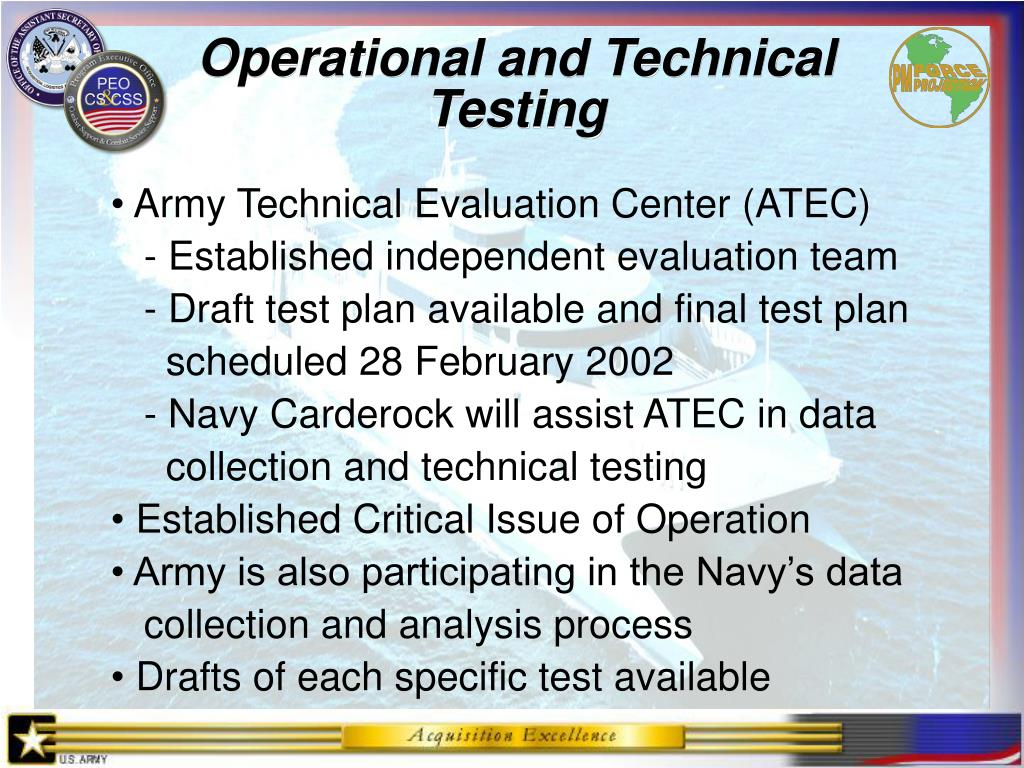 Operational and Technical
