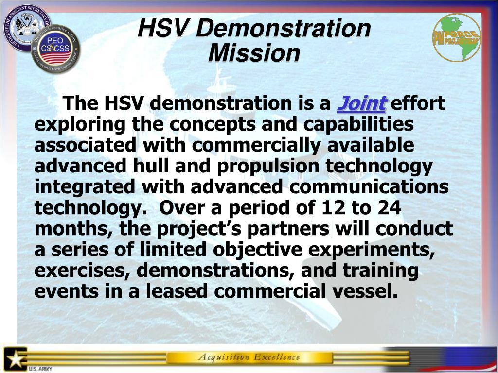 HSV Demonstration