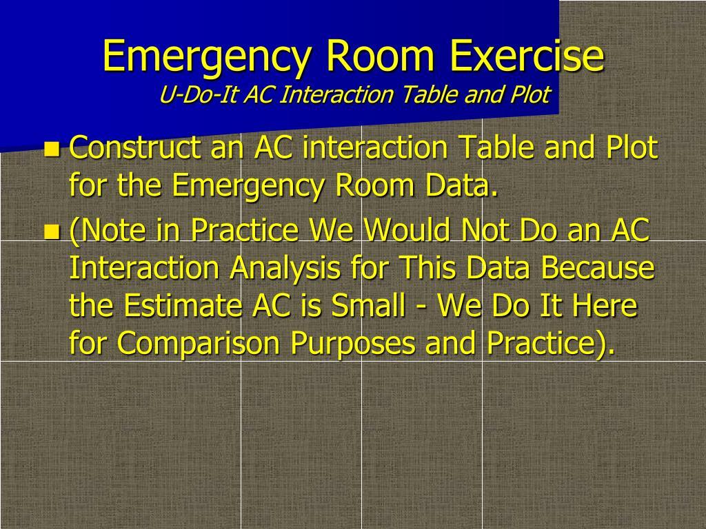 Emergency Room Exercise