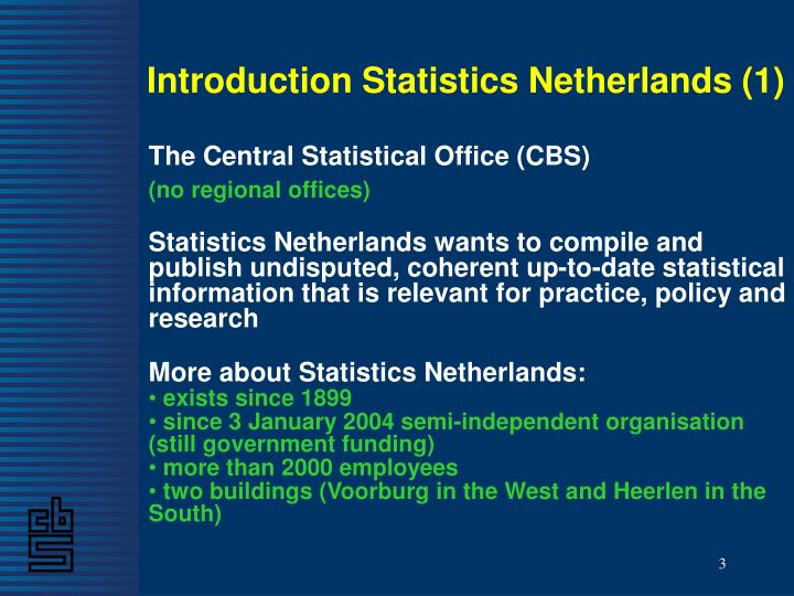 Introduction Statistics Netherlands (1)