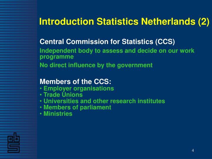 Introduction Statistics Netherlands (2)