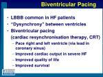 biventricular pacing