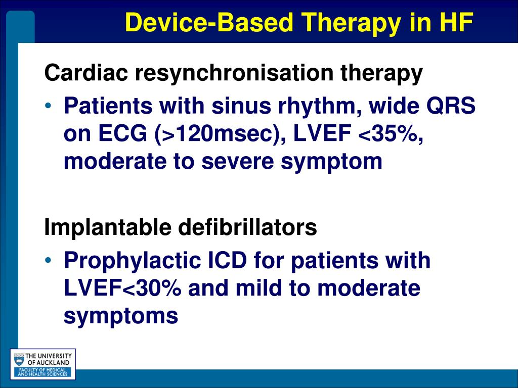 Device-Based Therapy in HF