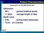 patient characteristics14