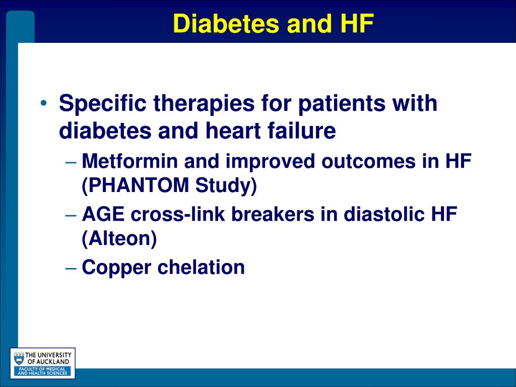 Diabetes and HF