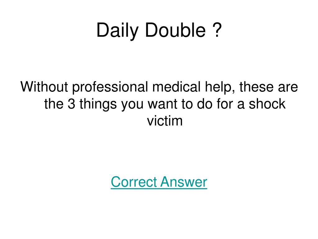 Daily Double ?