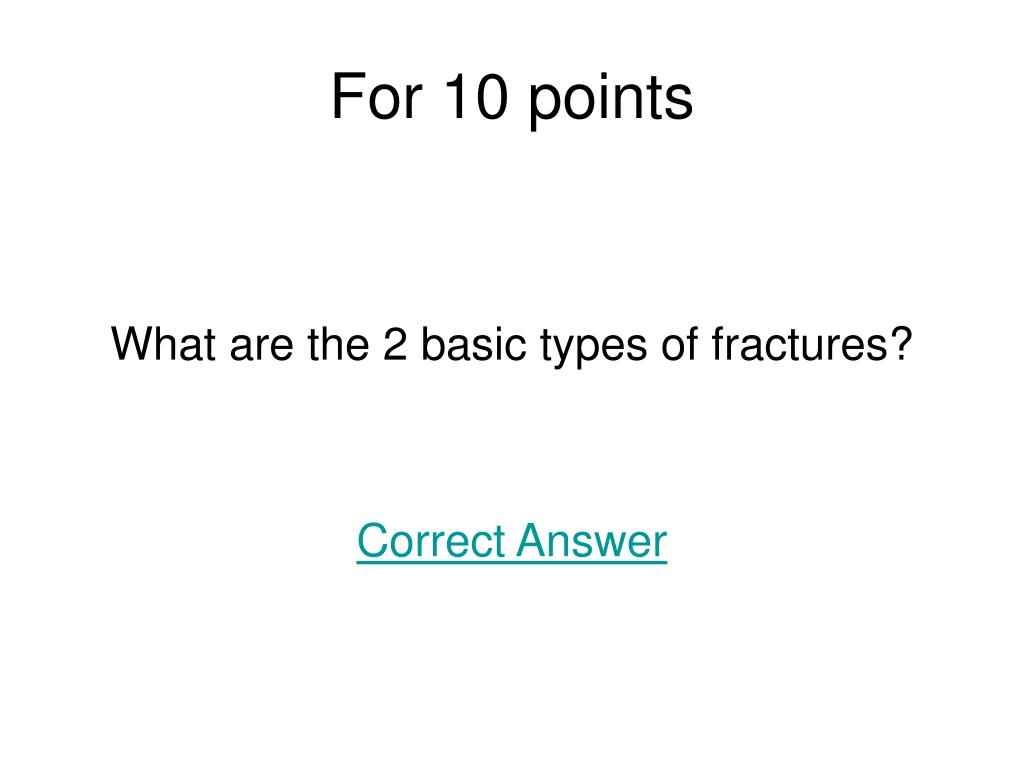 For 10 points