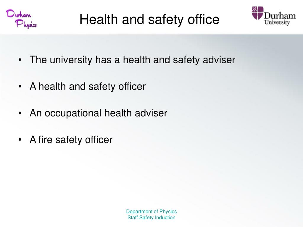 Health and safety office