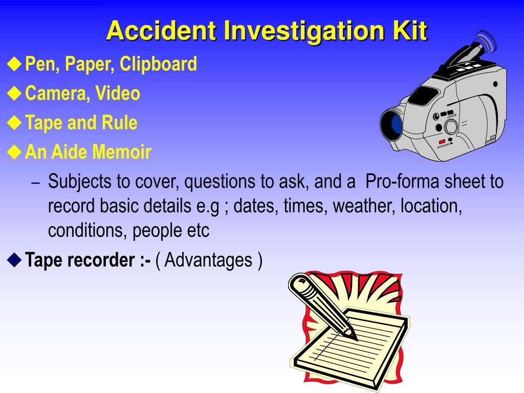 Accident Investigation Kit
