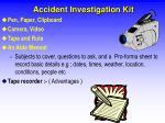 accident investigation kit