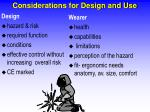 considerations for design and use