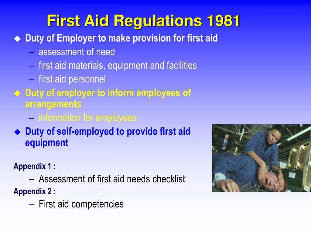 First Aid Regulations 1981