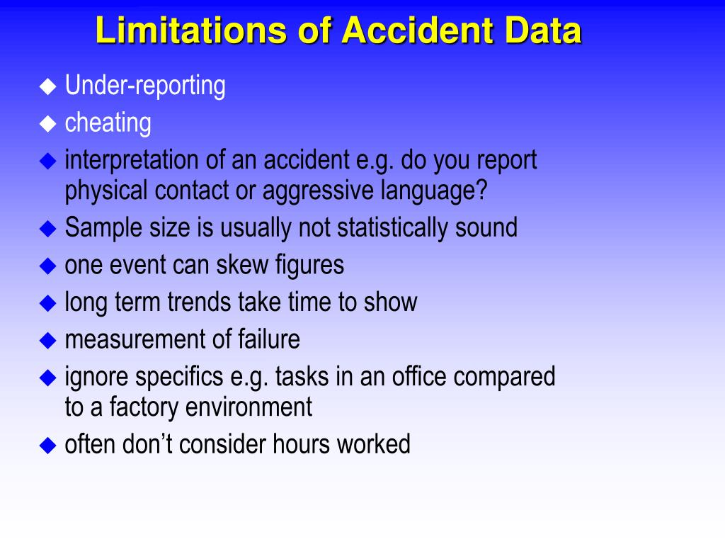 Limitations of Accident Data