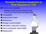 personal protective equipment at work regulations 19924