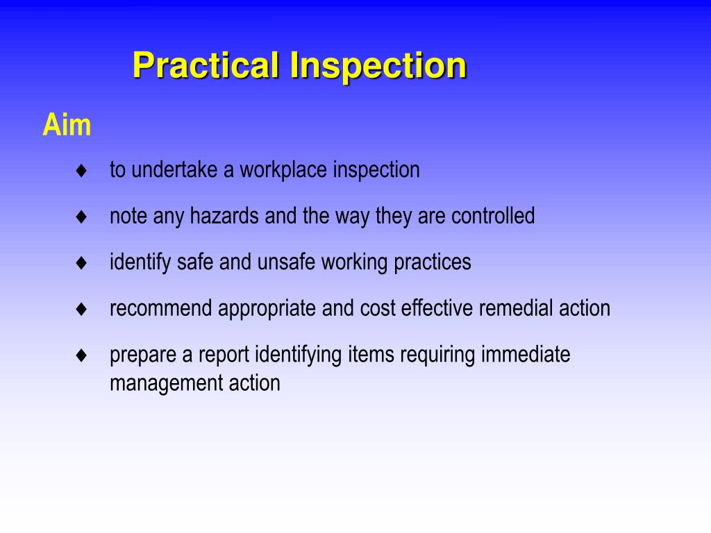 Practical Inspection