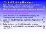 typical training questions
