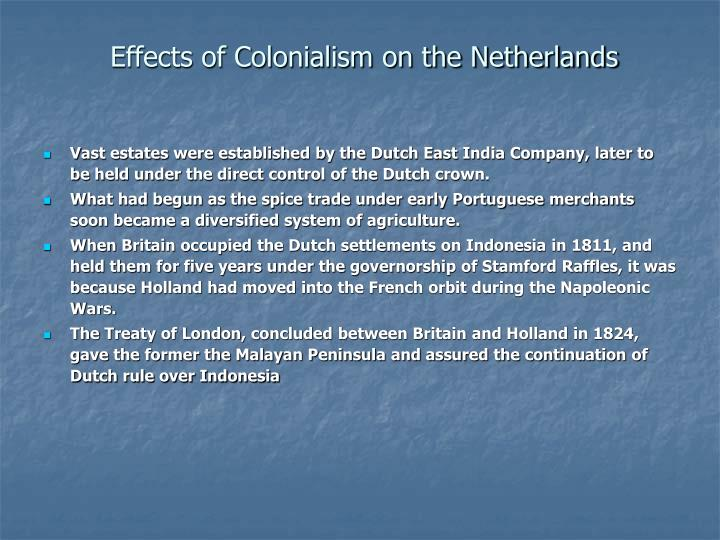 Effects of Colonialism on the Netherlands