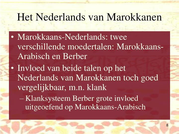 Het Nederlands van Marokkanen
