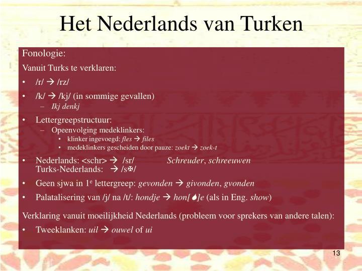 Het Nederlands van Turken