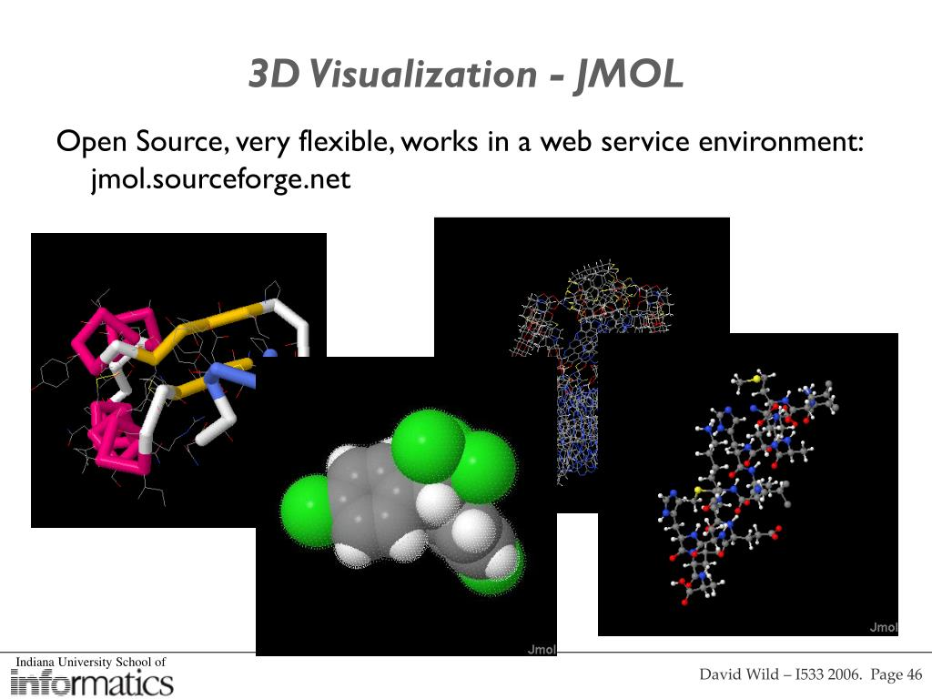 3D Visualization - JMOL