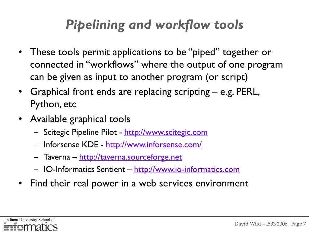Pipelining and workflow tools