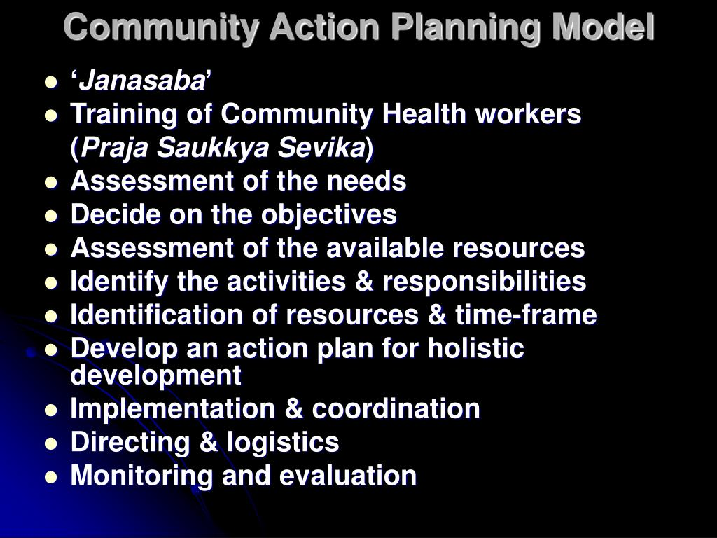 Community Action Planning Model