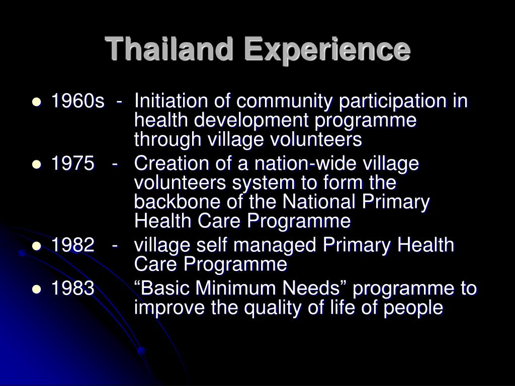 Thailand Experience